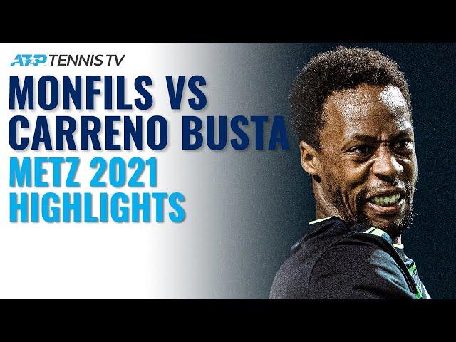 Fun Tiebreak! Gael Monfils vs Pablo Carreño Busta | Metz 2021