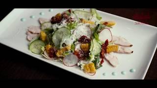 Салат с индейкой и кукурузой гриль