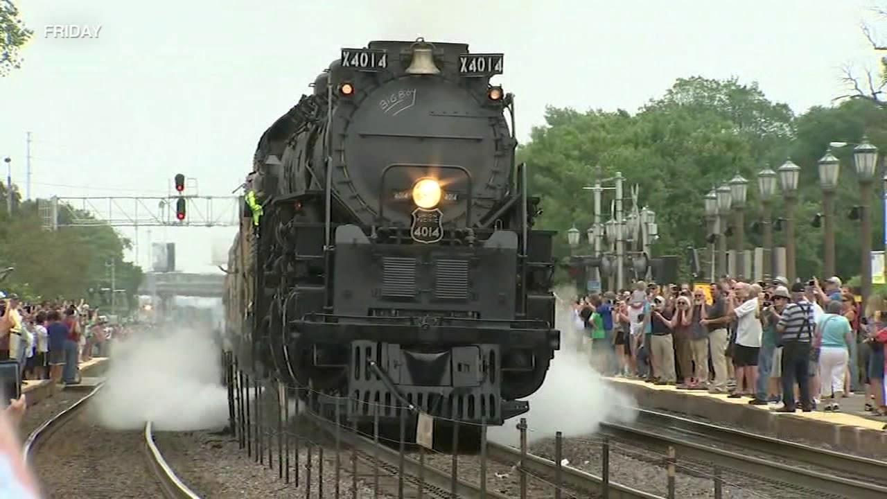 BIG BOY: World's Largest Steam Locomotive Leaves Chicago Area