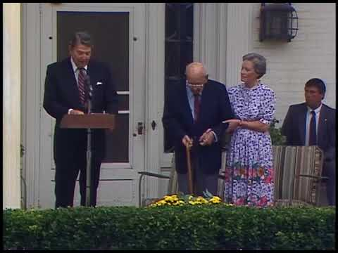 President Reagan's Remarks on Alfred M. Landon's 100th Birthday in Kansas on September 6, 1987