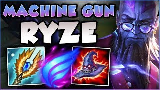 NO ONE IS SAFE FROM THIS RYZE! MACHINE GUN RYZE IS 100% BROKEN! RYZE TOP GAMEPLAY! League of Legends