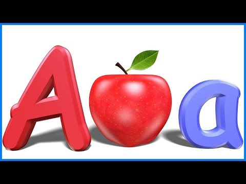 Thumbnail: Letters For Toddlers | Alphabets For Kids | ABCD For Children | A For Apple