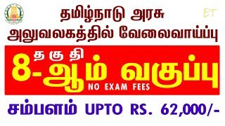 8th Pass TN Government Job in National Cadet Corps Department Chennai Offices | தமிழக அரசு வேலை