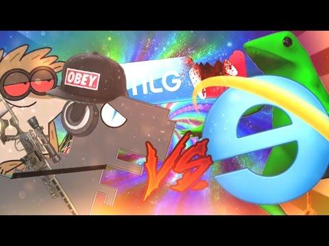 DINOSAURIO DE GOOGLE VS INTERNET EXPLORER (MLG MONTAGE )