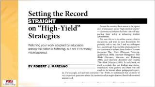 Repeat youtube video Introduction   Marzano's Nine Strategies for Effective Instruction