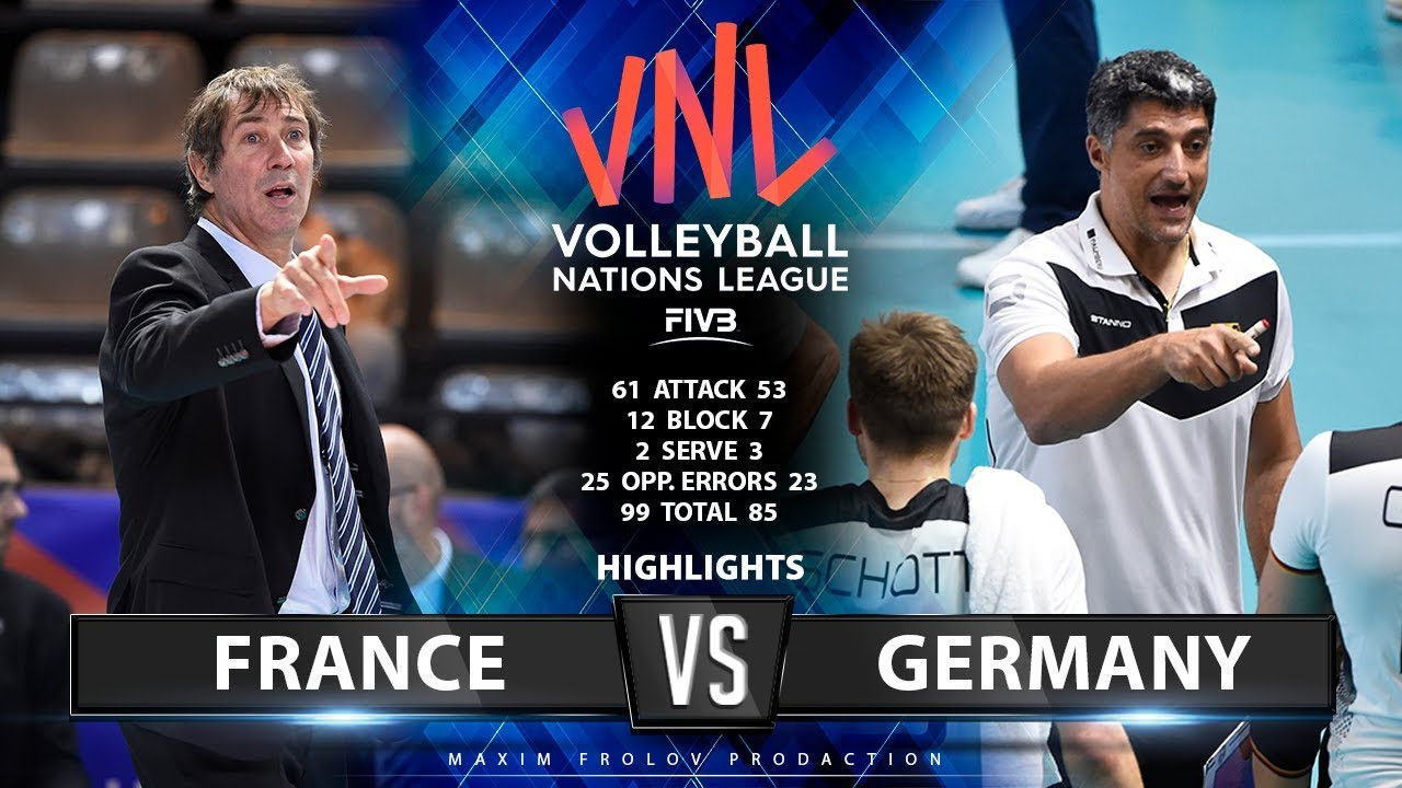 France vs Germany  | Highlights Men's VNL 2019