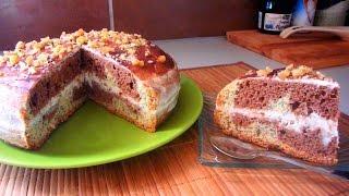 Торт ✽ДЕНЬ и НОЧЬ✽-очень вкусный и простой рецепт