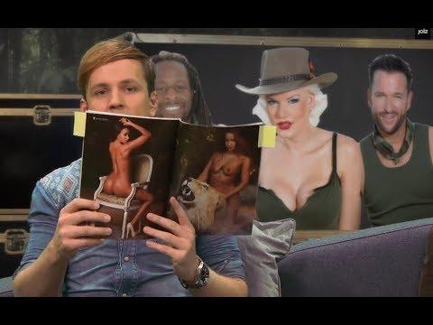 Sarah Knappik blättert im Playboy - 2/5