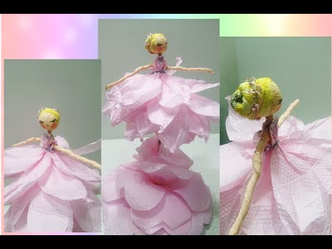 c312f8cca6 Centro de Mesa-Bailarina de papel-decoração de festa-Feito com materiais  recicláveis