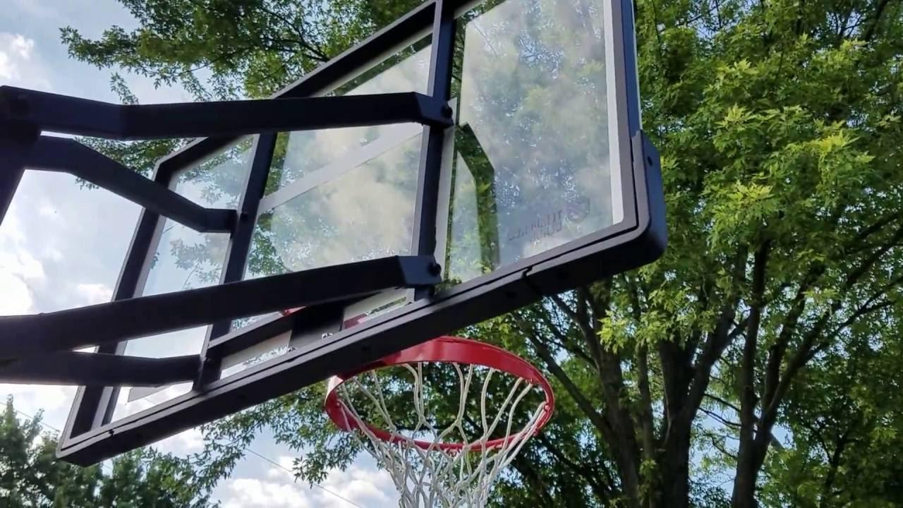lifetime tempered glass adjustable inground basketball hoop - In Ground Basketball Hoop