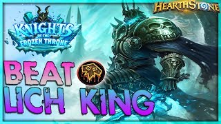 How to beat THE LICH KING [Shaman] - Solo Adventure 🌟 HEARTHSTONE  | Frozen Throne Legend
