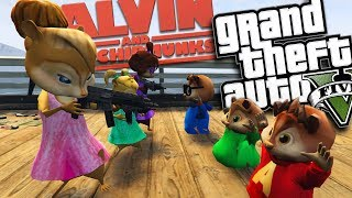 THE CHIPETTES VS ALVIN AND THE CHIPMUNKS MOD (GTA 5 PC Mods Gameplay)