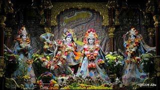 Sringar Arati Darshan Sri Sri Radha Rasbihari Temple 16th Aug 2018 Live from ISKCON Juhu,Mumbai