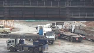 Строительство Керченского моста на 04.02.2017.