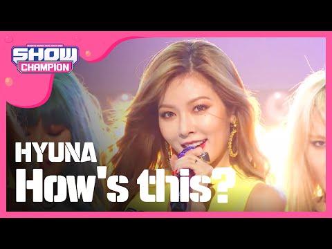 (Showchampion EP.198) HyunA - How's this?