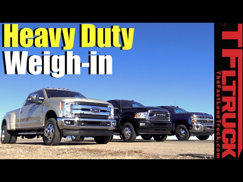 2017 Ford F 350 V Silverado 3500 Ram Dually The Heavy Weights Weigh In