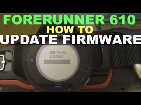 garmin forerunner 610 how to update firmware youtube