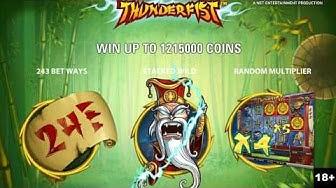 ThunderFist Slot Machine Free Spins Bonus - NetEnt Slots