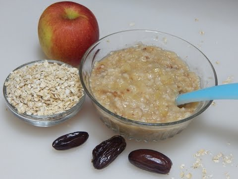 Healthy Baby Food Recipe – Oats Apple Porridge l Oatmeal with Apple & Dates l 8+ months