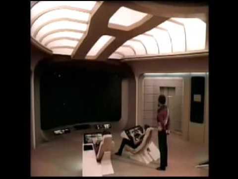Dr. Leonard McCoy aboard the Enterprise 1701-D checking medical layout