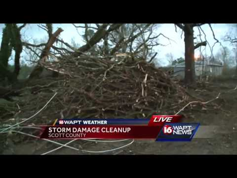 Scott County residents clean up after tornado strikes