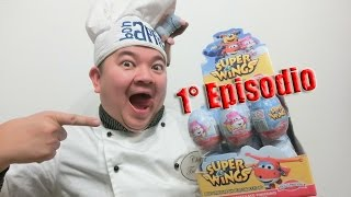 UNBOXING 24 EGGS SURPRISE OVETTI SUPER WINGS SORPRESA UOVA DI CIOCCOLATO ITALIANO AEREI 1° EPISODIO