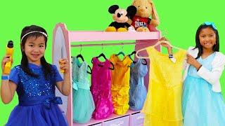 温迪和珍妮公主装扮Wendy & Jannie Pretend Play Princess Dress Up