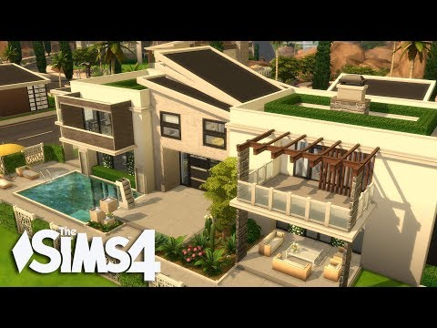 The Sims 4 - Luxiourus Modern Living!  2/2(House build)