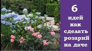 6 идей, как сделать розарий на даче