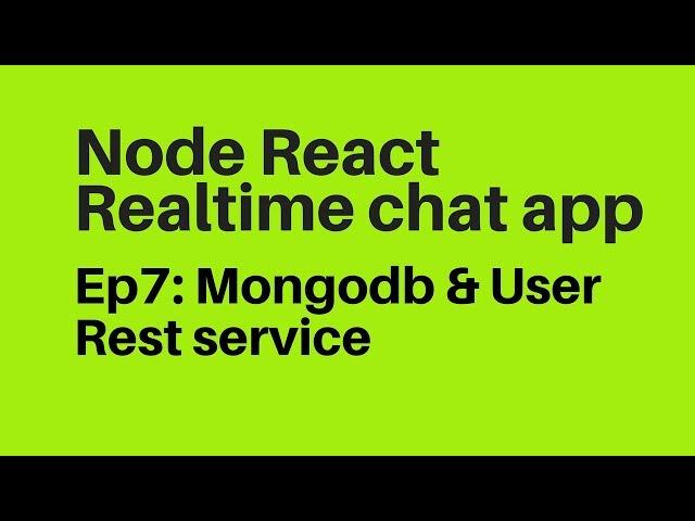 Ep7: MongoDb User Login & Register & Acess Token