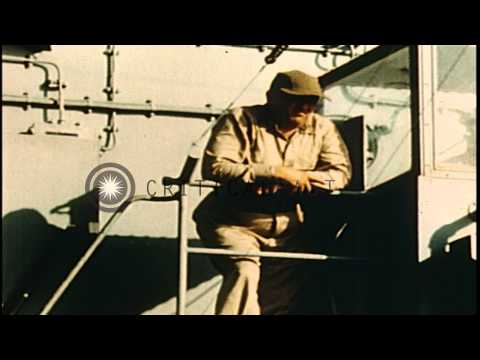US Navy Assault Force advances while US aircraft bomb Japanese air bases and shor...HD Stock Footage