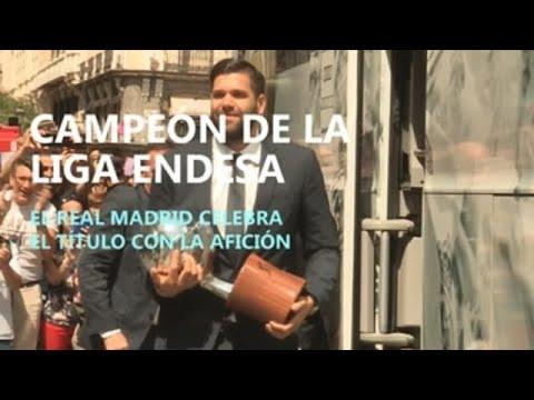 El Real Madrid Celebra Su 35 Liga De Baloncesto
