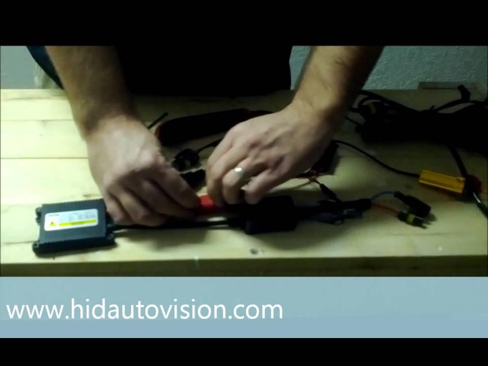 HID Kit Resistor  Capacitor Installation - YouTube