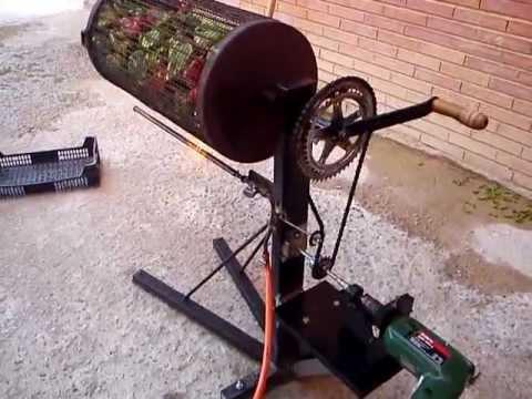 Asador de pimientos motorizado youtube for Asadores de jardin fotos