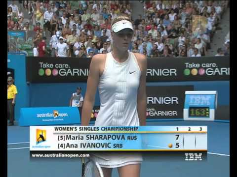 Ivanovic v Sharapova: 2008 Australian Open Women's Final Highlights