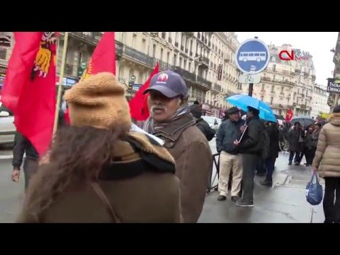 Protest held in France to condemn attack on Tamil activist
