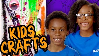 Make Spooky Halloween Door Decorations!  | KIDS CRAFTS | Universal Kids