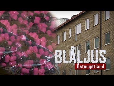 Blåljus om narkotika i Norrköping