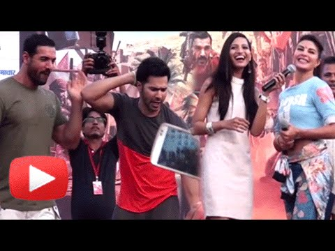 Varun Dhawan, Jacqueline, John Abraham Stunts And Fun Moments | Dishoom Promotions