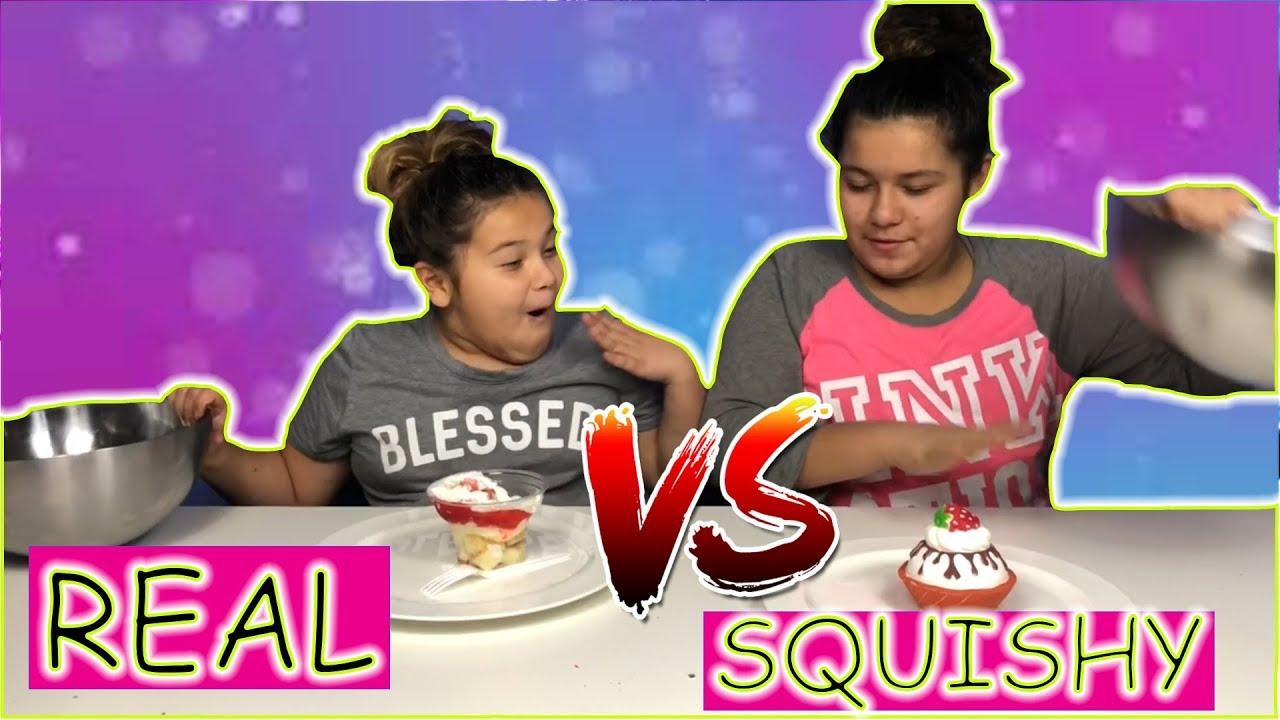 Squishy Versus Real Challenge : SQUISHY FOOD VS REAL FOOD CHALLENGE!! - YouTube