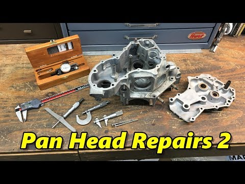 Harley Davidson Pan Head Engine Case Repair Part 2