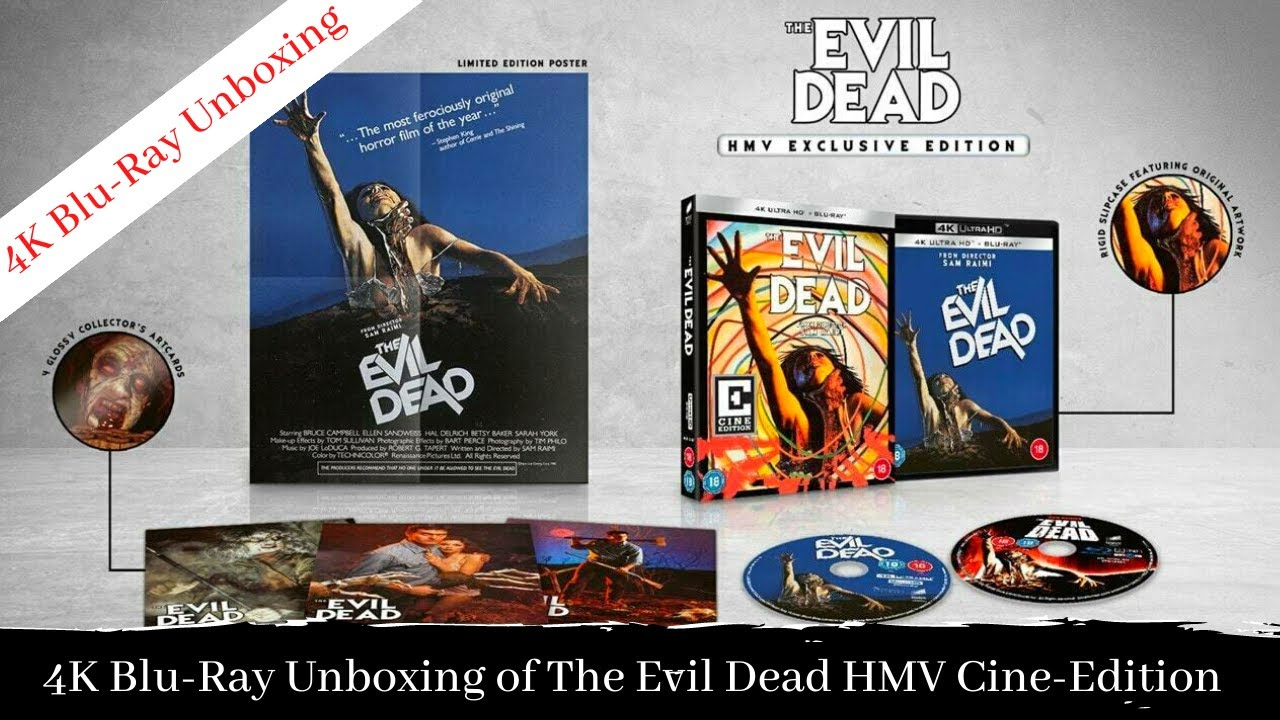 Download Blu-Ray Unboxing of The Evil Dead (1981) 4K UHD HMV Cine-Edition