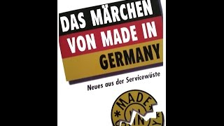 """Made in Germany"" war mal gut"