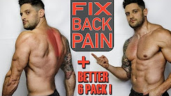 "Fix Upper ""BACK PAIN"" with One Side affect. BETTER ABS!"