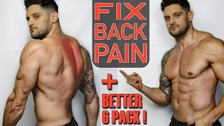 """Simple """"BACK PAIN"""" Fix That Improves Your Abs 