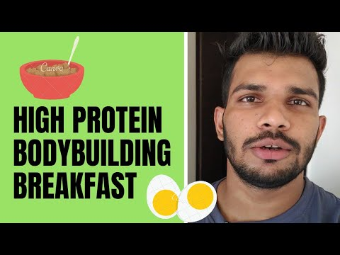 High Protein Bodybuilding Breakfast With Roasted Oats And Scrambled Eggs | Quick Recipe