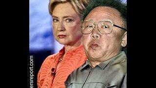 HILLARY CLINTON LOOKS LIKE KIM JONG IL WHILE TRYING TO BAN GUNS.
