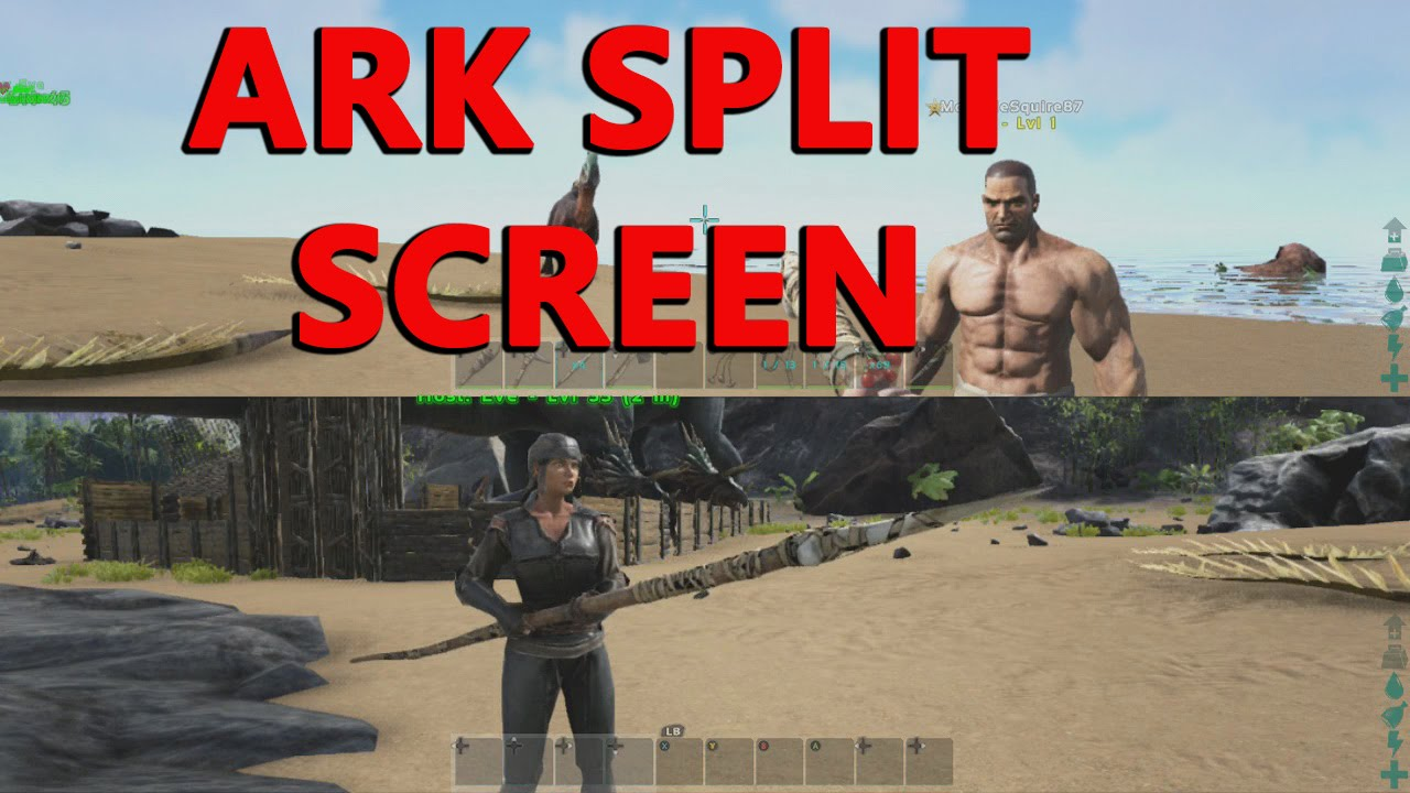 ark survival split screen xbox one how to and pros and. Black Bedroom Furniture Sets. Home Design Ideas