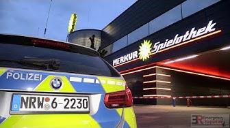 -[Gesprengter Geldautomat an der Merkur Spielothek in Monheim am Rhein]-