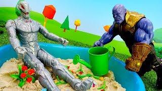 Игры для мальчиков - Герои Марвел и Танос - Сила перчатки!